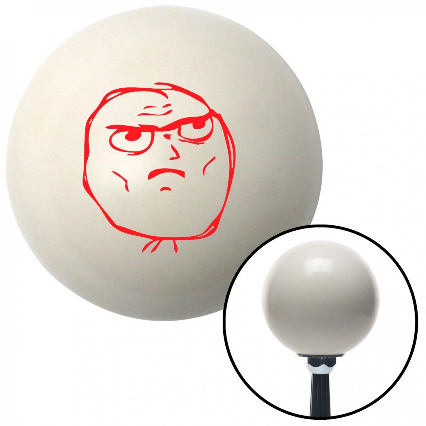 Red Determined American Shifter 31638 Ivory Shift Knob with 16mm x 1.5 Insert
