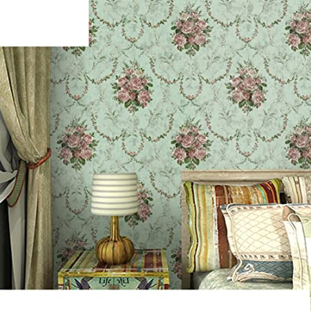 American Country Wallpaper/ Non Woven Wallpaper/pastoral Follower Wallpaper/Bedroom  Living Room