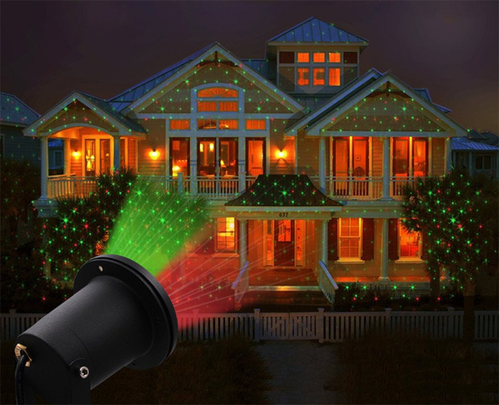 LUCKY-U Weihnachts Projektor Licht, LED Effektlicht Chiristmas ...