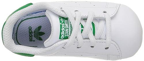 official photos 59dfa c396a Adidas Stan Smith Crib, Chaussures Bébé marche bébé garçon, Blanc (Ftwr  White Ftwr White Green), 17 EU (0-6 months Bébé UK)  Amazon.fr  Chaussures  et Sacs