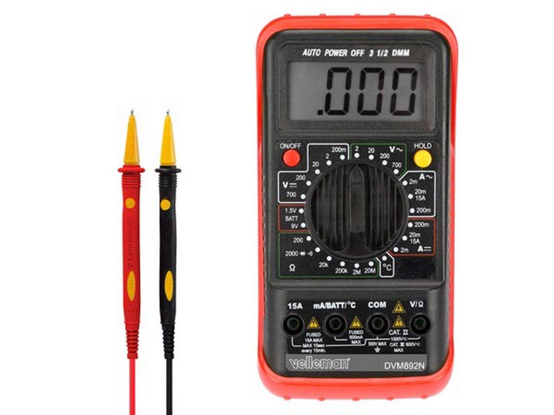Velleman DVM892N Digital multimeter CAT II 500V, CAT III 300V multimetro
