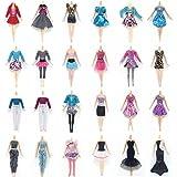 Lance Home 10 Abiti 10 Paia di Scarpe 10 pz Borsa per Barbie Accessori Regali per bambino Casuale Stile (30pz)