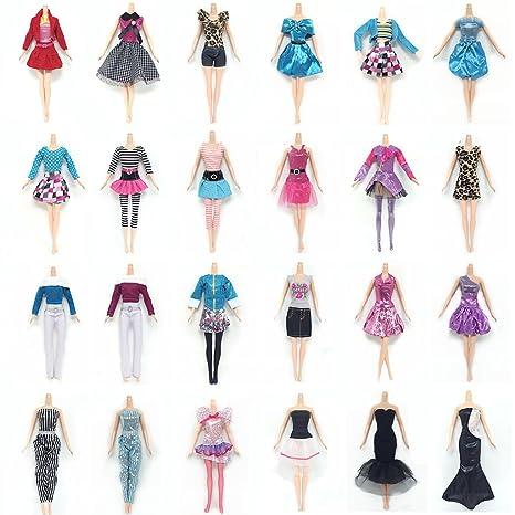 Lance Home 10 Abiti 10 Paia di Scarpe 10 pz Borsa per Barbie Accessori  Regali per bambino Casuale Stile (30pz) 5615952dd84