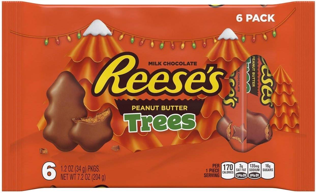 Reeses Peanut Butter Trees 6 Pack chocolate americano Navidad ...