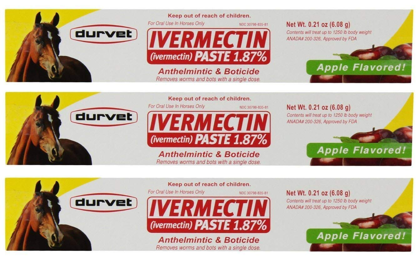 Ivermectin Paste Equine Dewormer - 3 Pack (6-Pack)