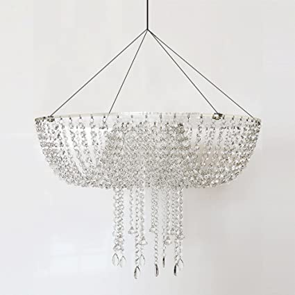 Amazoncom Romantic Wedding Faux Acrylic Crystal Chandelier Style - Chandelier acrylic crystals