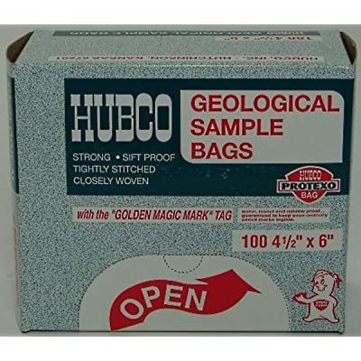 Hubco - Geological Sample Bags 4 1/2 x 6 - Sold as 100 Each: Office Products