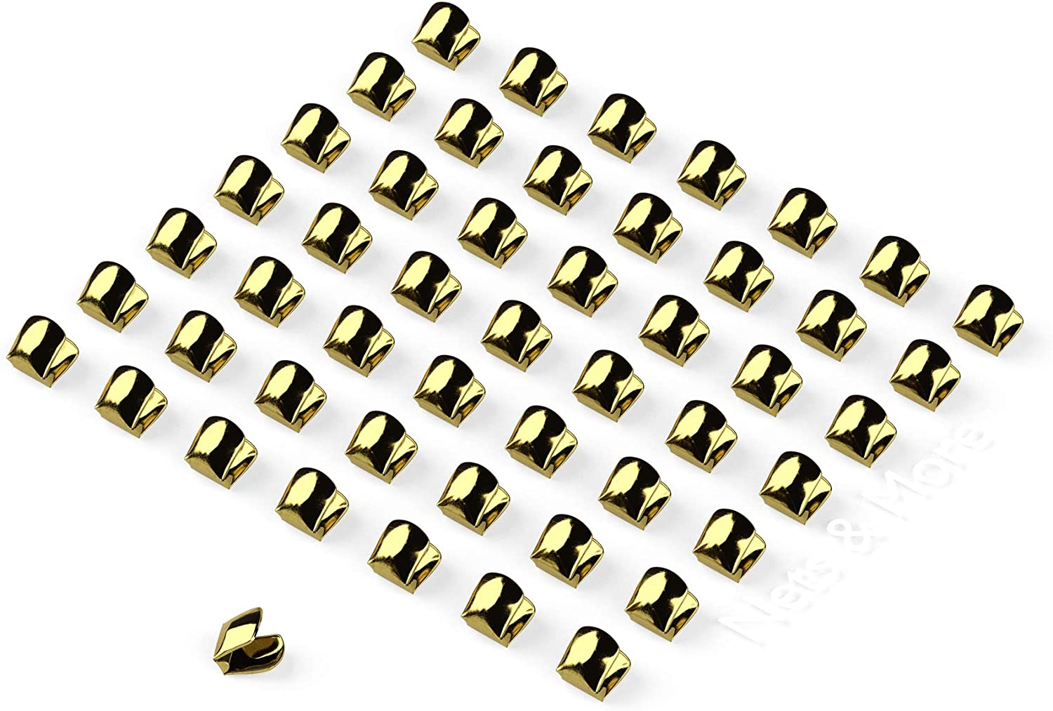 50 pcs Catahoula 03260 Brass Trotline Brads Prevent Staging From Moving