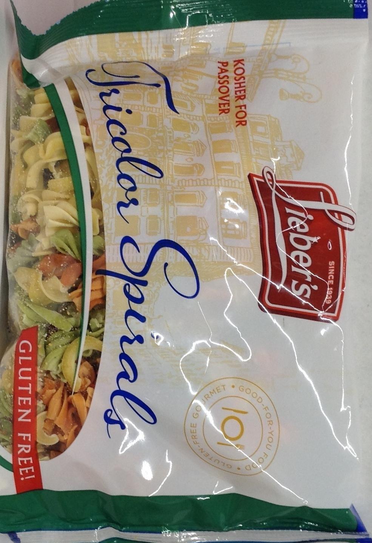 Lieber's Tricolor Spirals Pasta Gluten Free KFP 9 Oz. Pack Of 3. by Lieber's (Image #1)