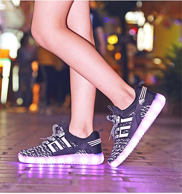 Amazon.com   MIKA HOM LED Light Up Shoes for Kids Multi-Color LED Lighting Shoes with USB Charging for Little Kid/Big Kid   Sneakers