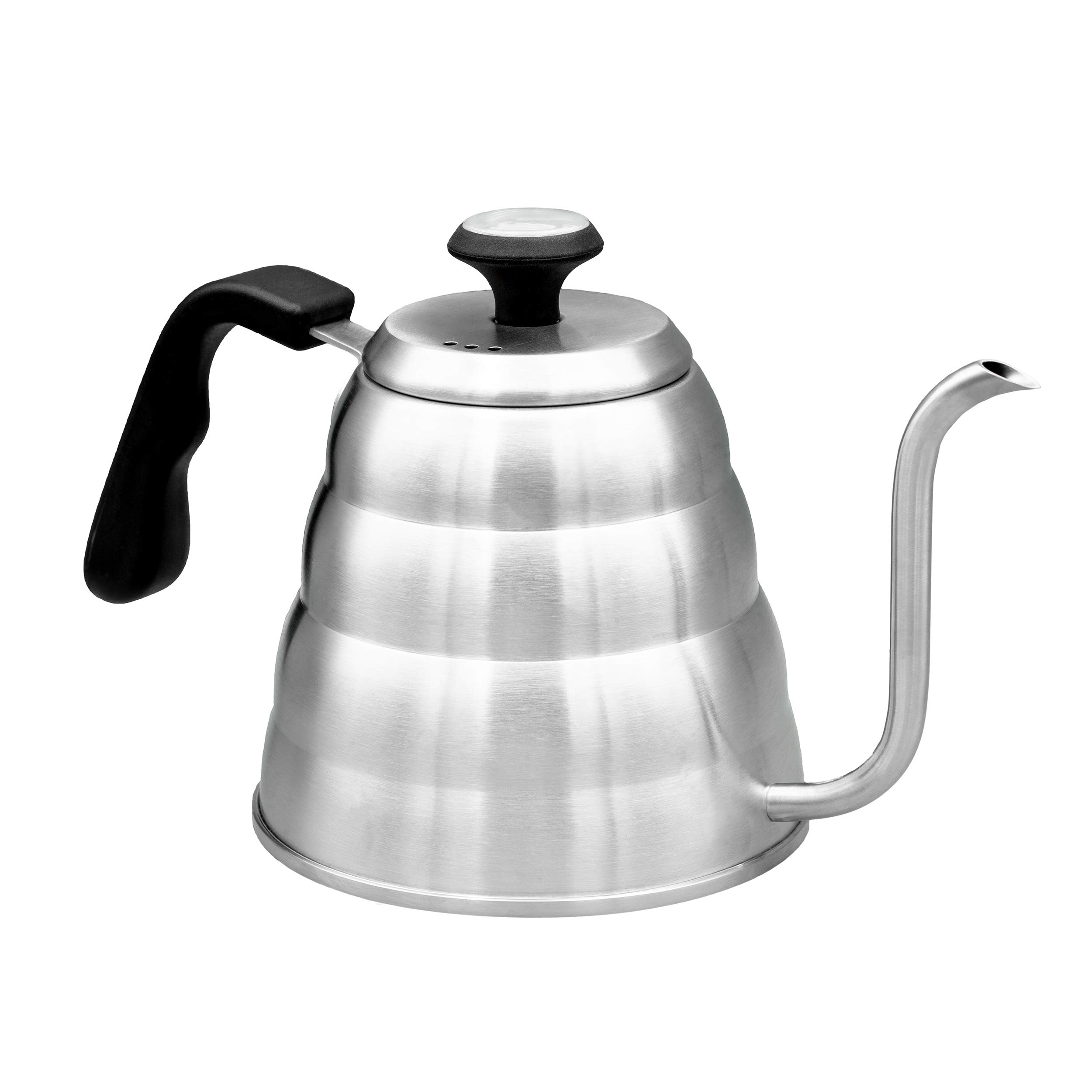 Pour Over Coffee Kettle With Gooseneck Spout by Culinary Foundry - 1.2 Liter Capacity Made of Premium Stainless Steel With Built-In Thermometer - Achieves Perfect Water Temperature Every Time by Culinary Foundry (Image #5)