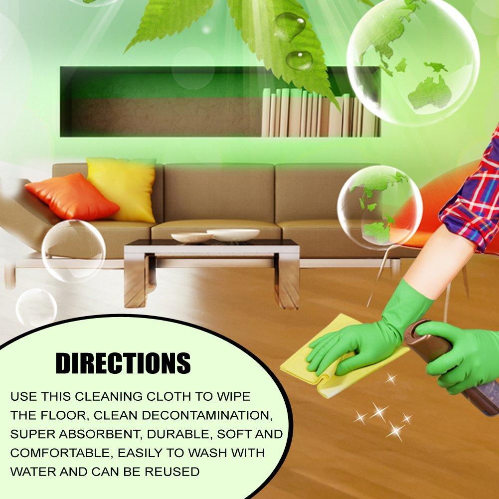 Floor Cleaning Cloth, RUILLSEN Wood Dusting Cloths 6 Packs by RUILLSEN (Image #4)