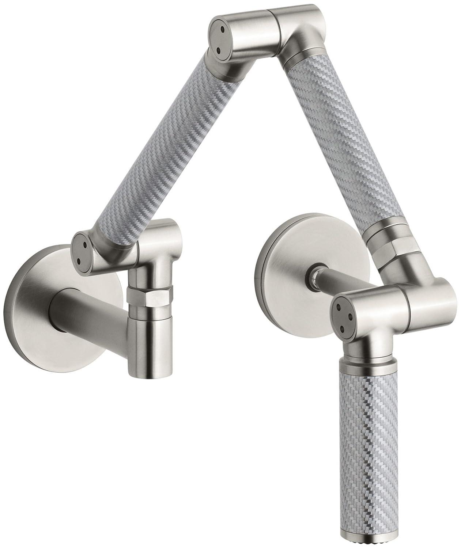 KOHLER K-6228-C11-VS Karbon Wall-Mount Kitchen Faucet with Silver ...