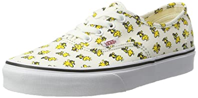 92198562 Vans Women's Authentic Trainers, Yellow (Woodstock/Bone (Peanuts), 8.5 UK