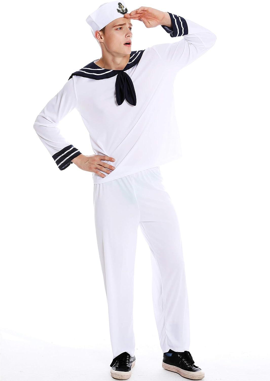dressmeup Dress ME UP - M-0031-M/L Disfraz Hombre Carnaval Halloween Marinero Marino Talla M/L