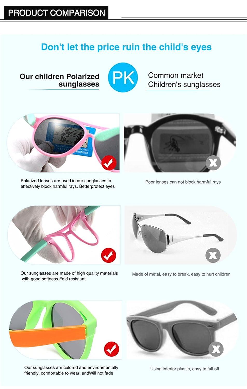 Sicuro E Sicuro-UV400 Protezione Unisex,2 Goolife Bambini Classico Occhiali Polarizzati Silicone Materiale