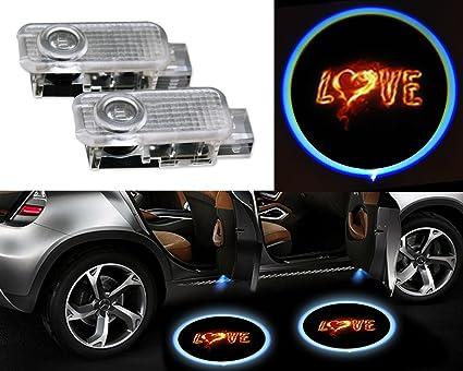 2 piezas coche Logo Puerta Sombra Proyector LED Light para AUDI ...