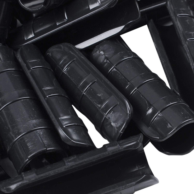 SODIAL 50 Pi/èCes Serre Tube Cadre Tube Clip Net Ombre Voile Voiles Pince Jardin Outils-22Mm
