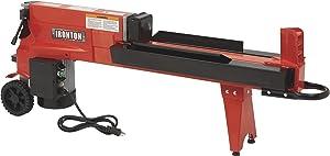 Ironton Horizontal Electric Log Splitter - 5-Ton, 15 Amp, 120V Motor
