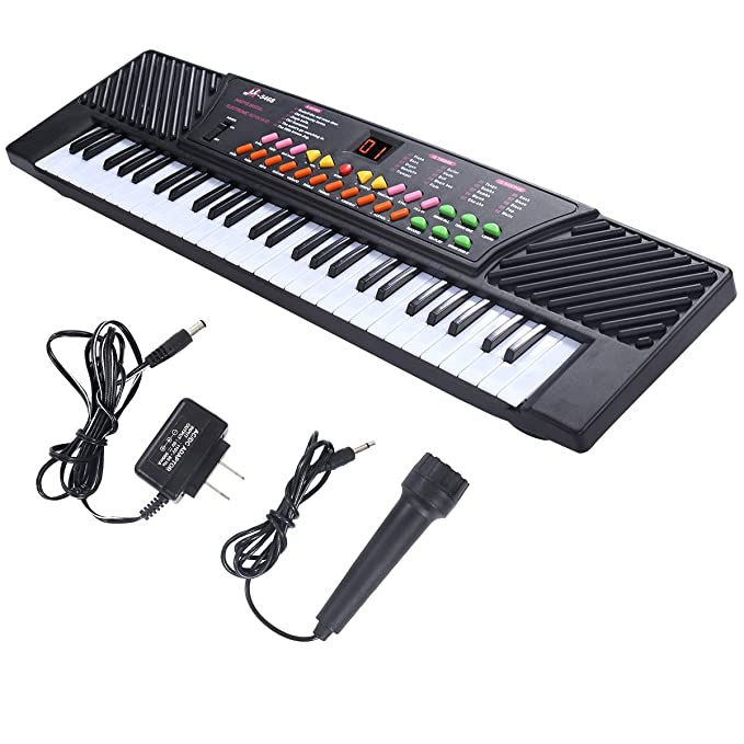 Amazon.com: New 54 Keys Music Electronic Keyboard Kid Electric Piano Organ With Mic & Adapter: Musical Instruments