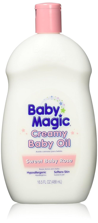 Baby Magic Creamy Baby Oil 16.5oz Sweet Baby Rose (3 Pack)
