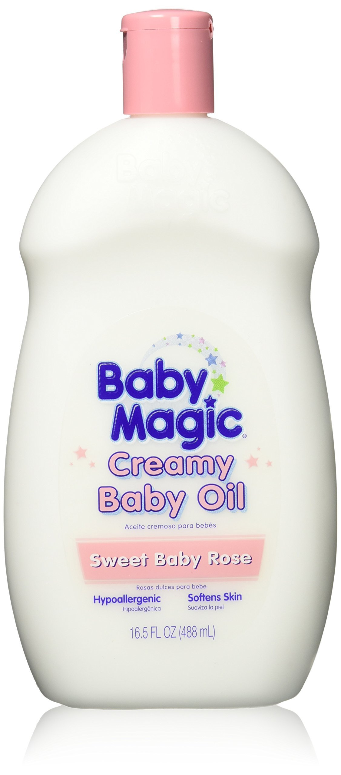 Baby Magic Creamy Baby Oil 16.5oz Sweet Baby Rose (3 Pack) by Baby Magic