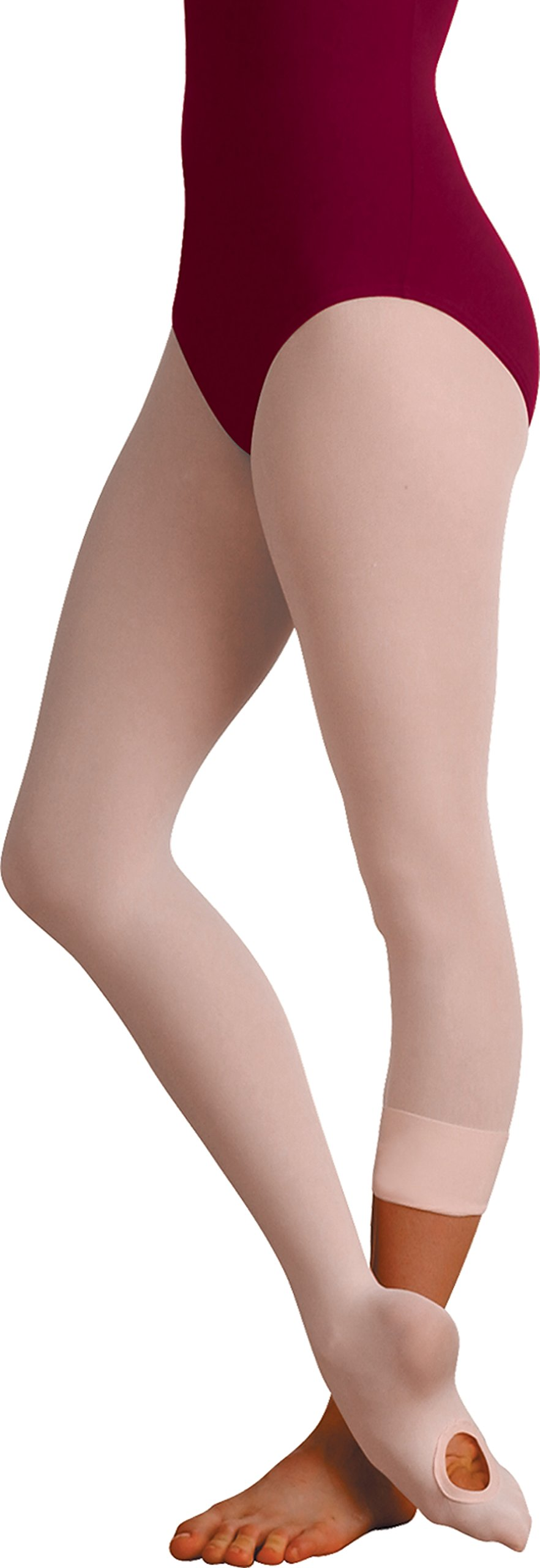Body Wrappers Women's Total Strech Convertible Tights - A31, Theatrical Pink, Small/Medium