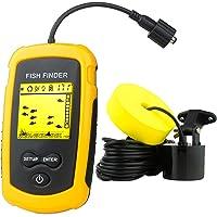 Venterior VT-FF001 Portable Fish Finder,  Handheld Fishfinder Fish Depth Finder with Sonar Sensor Transducer and LCD Display