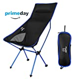 OUTAD Portable Lightweight Folding Chair Leisure Stool Lengthen Backrest Seat For Outdoor Hiking Fishing Camping