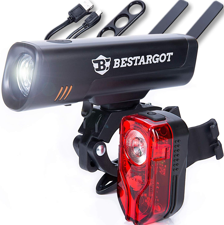Fahrrad LED Vorne/& Hinten Set Beleuchtung Rücklicht Scheinwerfer Fahrradlicht DE