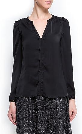 MANGO Camisa Villarpi Negro XL: Amazon.es: Ropa y accesorios