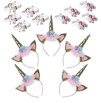 Amazon.com: Paquete de 5 unidades de accesorios de unicornio ...