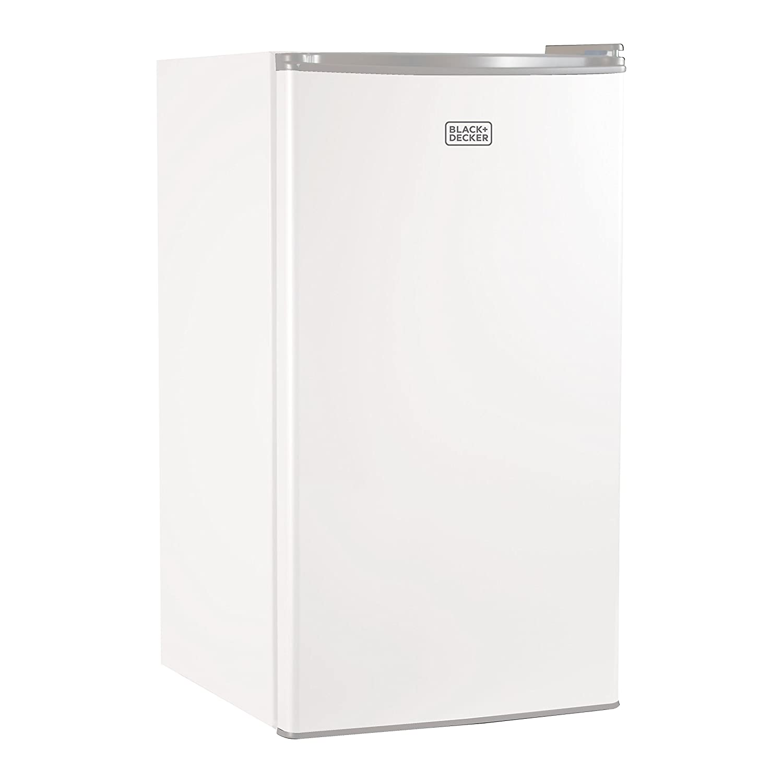 BLACK+DECKER BCRK32W Compact Refrigerator Energy Star Single Door Mini Fridge with Freezer, 3.2 Cubic Ft., White