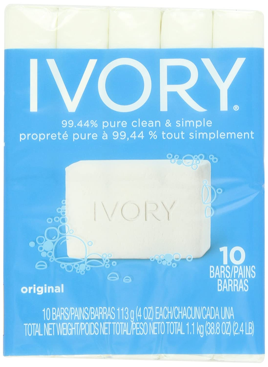 Ivory Original 10-Count: Bath Size Bars (4 Oz), 38.8 Ounce hfs-koi-zk-a5017