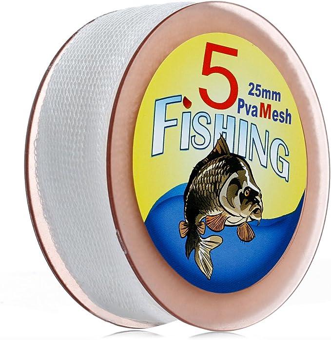 5M PVA 25 37MM MESH REFILL CARP FISHING STOCKING BOILIE RIG BAIT BAGS FIRM