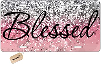 Amazon Com Amcove License Plate Blessed Car Tag Pink Glitter Background Front License Plate Christian Religious License Plate Vanity Tag Car License Plate 6 X 12 Inch Automotive Find the best free stock images about glitter. amcove license plate blessed car tag pink glitter background front license plate christian religious license plate vanity tag car license plate