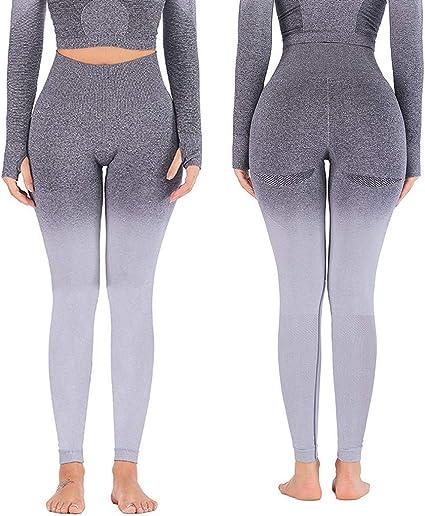 Womens High Waist Seamless Leggings Yoga Gym Fitness Compression Jogging Pants