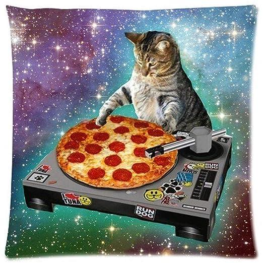 Drew58kel Hipster Dj Cat Pizza Cat Galaxy Pizza Cat funda de ...