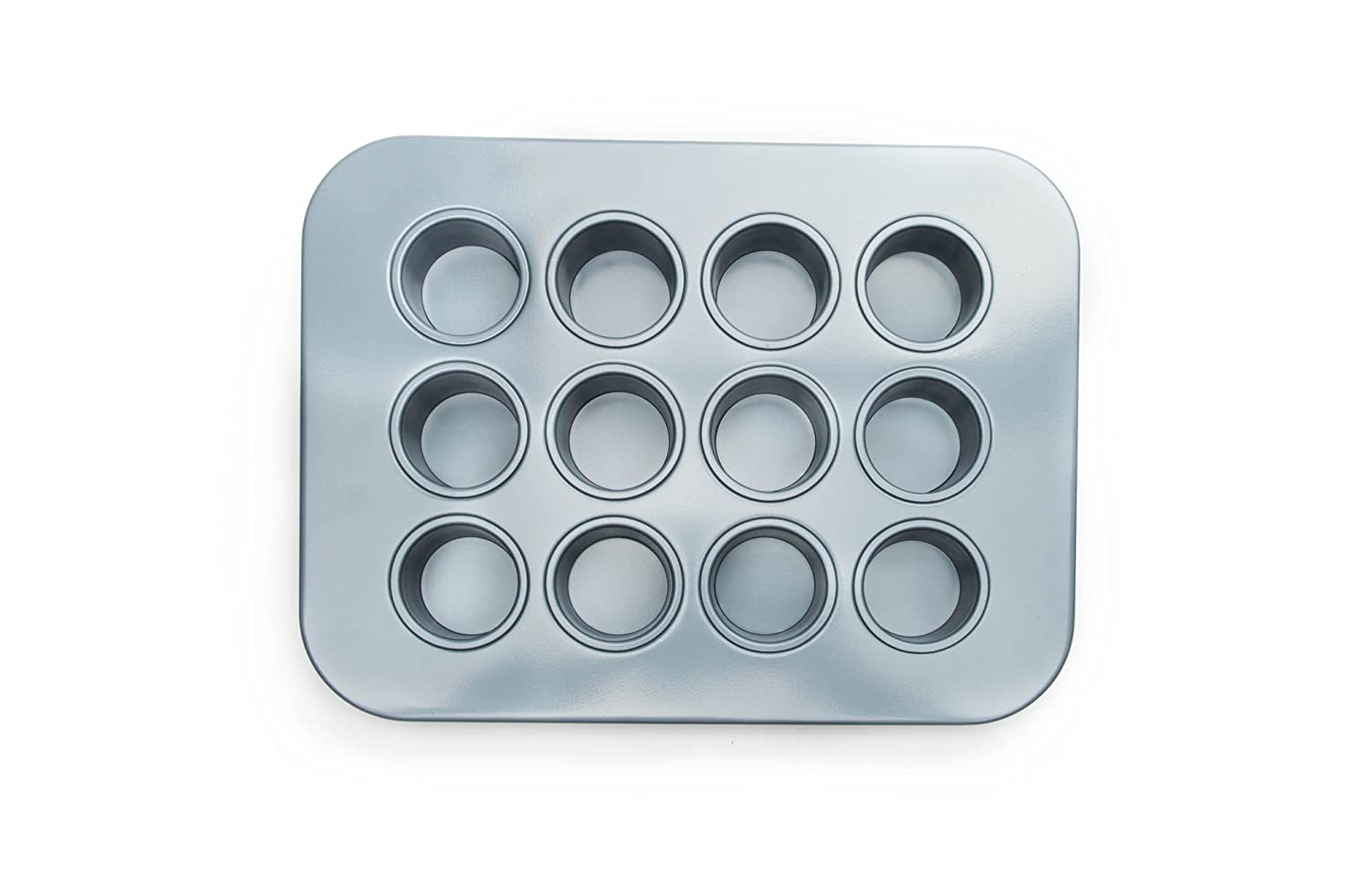 Chicago Metallic 77122 2-Inch by 1.6-Inch Cavities Mini Cheesecake Pan 12 Cavity, 13.90-Inch by 10.60-Inch