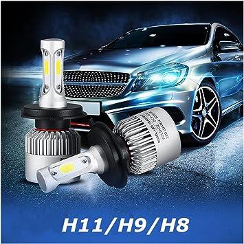 confezione da 2/Pcss H11//H9//H8/200/W 20000LM automobile COB LED fari auto fascio kit lampadine Faro lampadina auto
