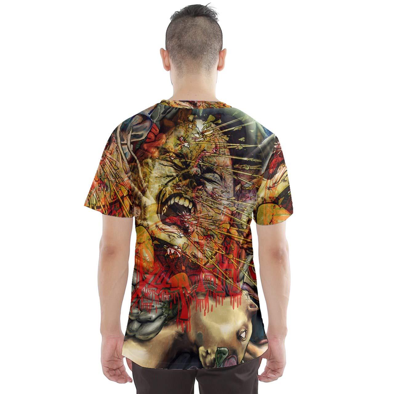 Dcustomwatch Death Metal Rock DMT Dark Psychedelic Design 3D Full Print T-Shirt
