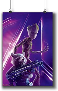 Avengers: Infinity War (2018) Movie Poster Small Prints 183-209 Groot Rocket,Wall Art Decor for Dorm Bedroom Living Room (A3|11x17inch|29x42cm)