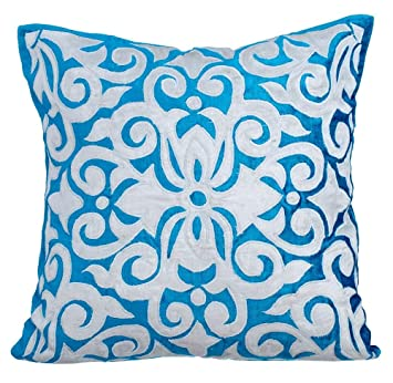 Turquoise housse coussin, 65x65 inch housse de coussin pour canapé