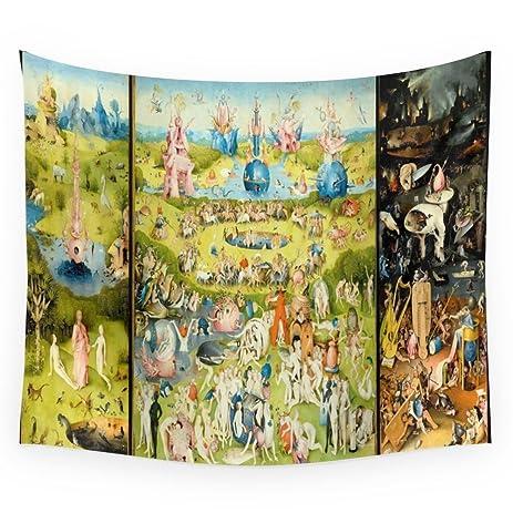 Elegant Society6 The Garden Of Earthly Delights Wall Tapestry Medium: 68u0026quot; ...