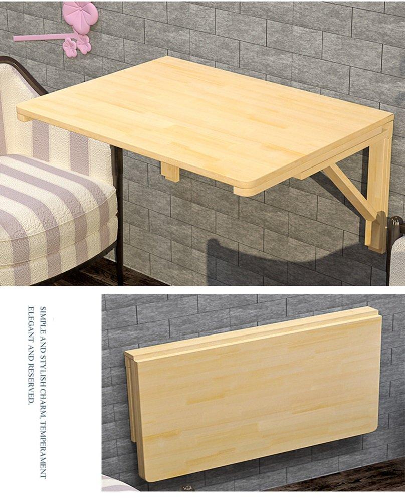 Massivt trä väggmonterad droppblad bord vikbar matbord utrymme sparare vikbar konvertibel skrivbord vikbar (färg: 120 x 50 cm) 70*50cm