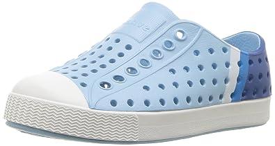 1eb7ae5a5a0a8 Native Kids' Jefferson Block Child Water Shoe, Sky Blue/Shell  White/Gradient Block Print, 4 Medium US Toddler