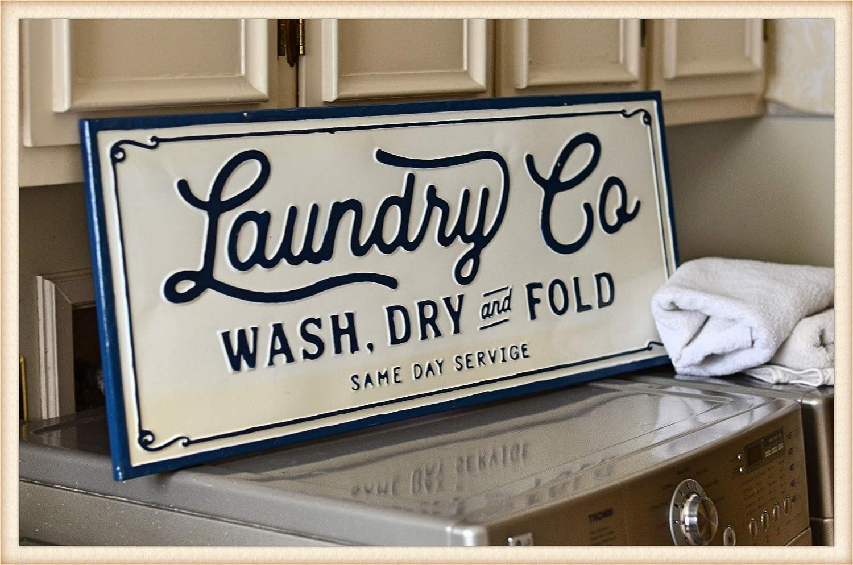 Amazon.com: Letrero de metal para lavandería Peacock de ...