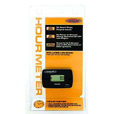 Hardline Products HR-8063-2 Hour Meter,Black: Automotive