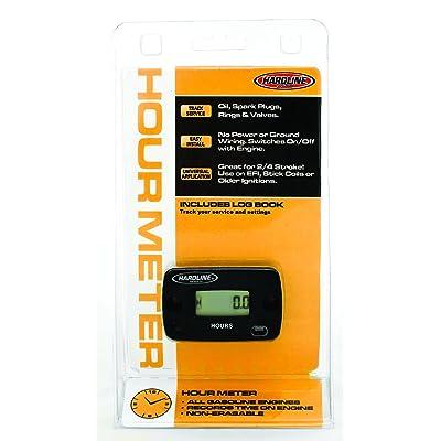 Hardline Products HR-8063-2 Hour Meter,Black: Automotive