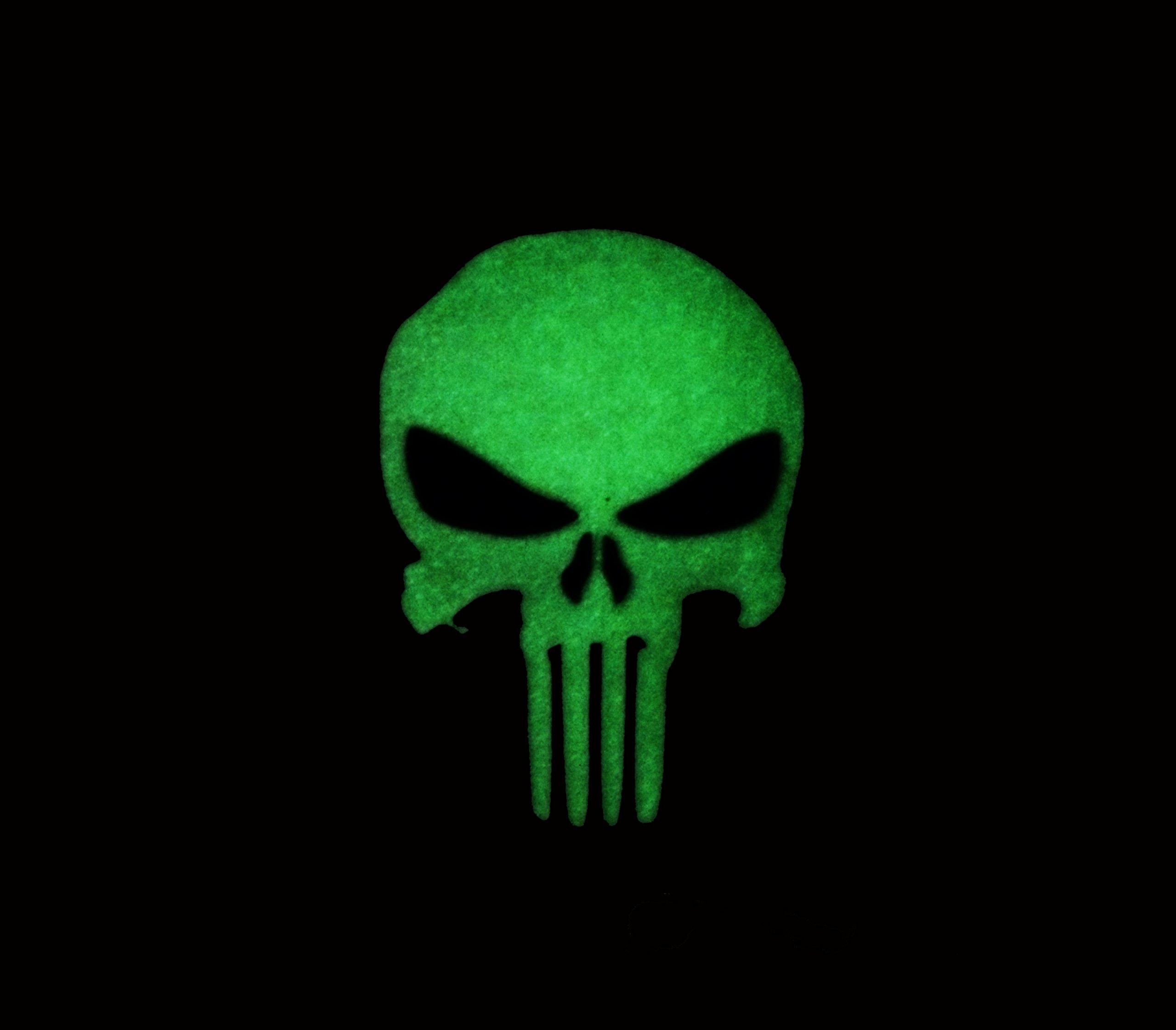 Galleon - 3d Swat Glow In The Dark PVC Us Punisher Flag